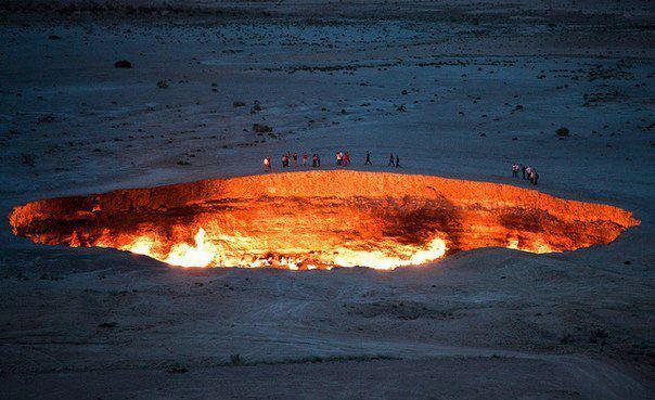 Ворота в ад, Туркменистан. Пустыня Каракум
