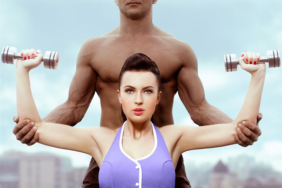 Девушка и фитнес - это сексуально
