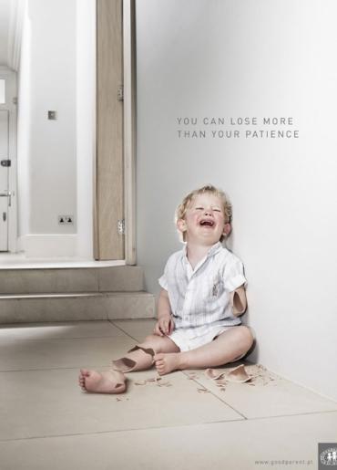 Призыв американцев бороться с домашним насилием. Надпись на плакате: Ты можешь потерять гораздо больше, чем просто терпение