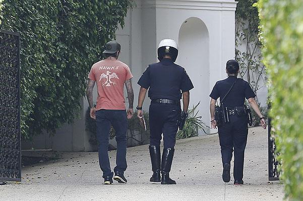 Бекхэм ответил на вопросы полицейских в собственном доме