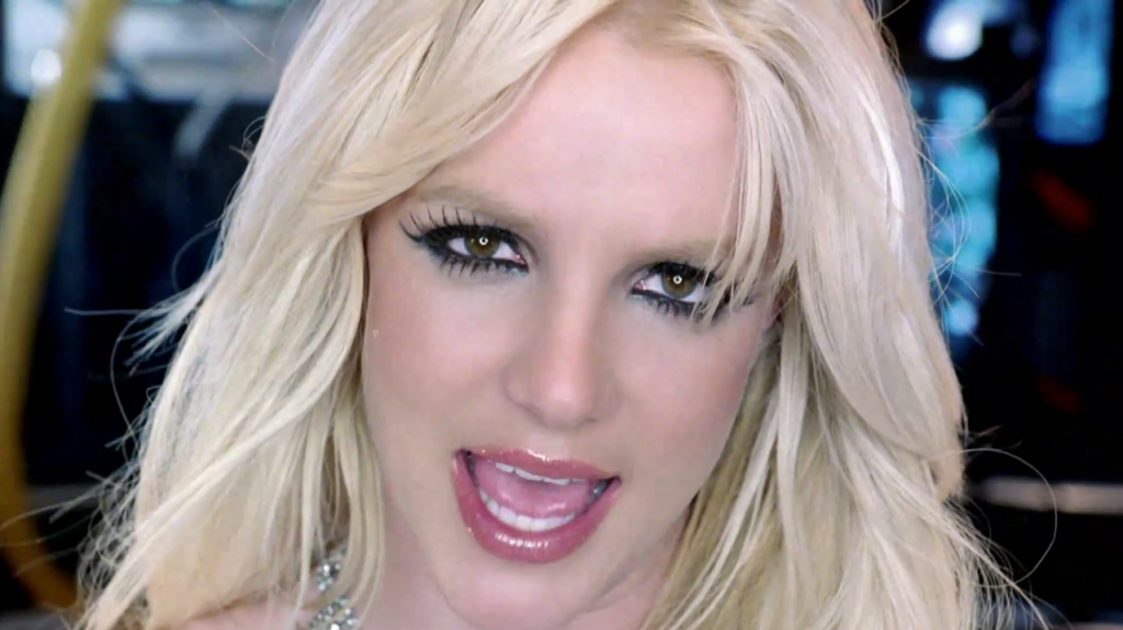 Бритни Спирс в клипе Hold It Against Me
