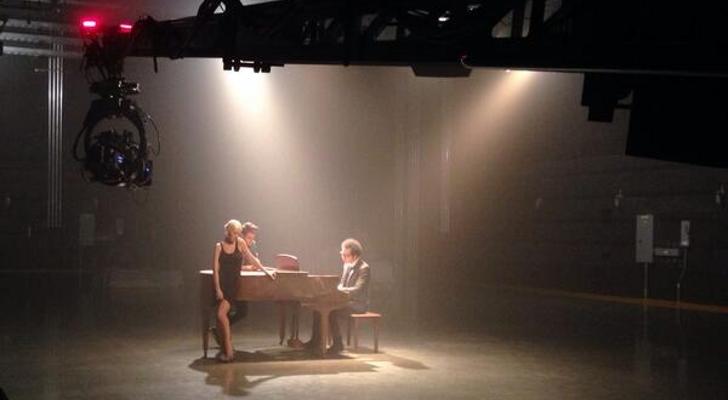 Кристина Агилера на съемках нового клипа