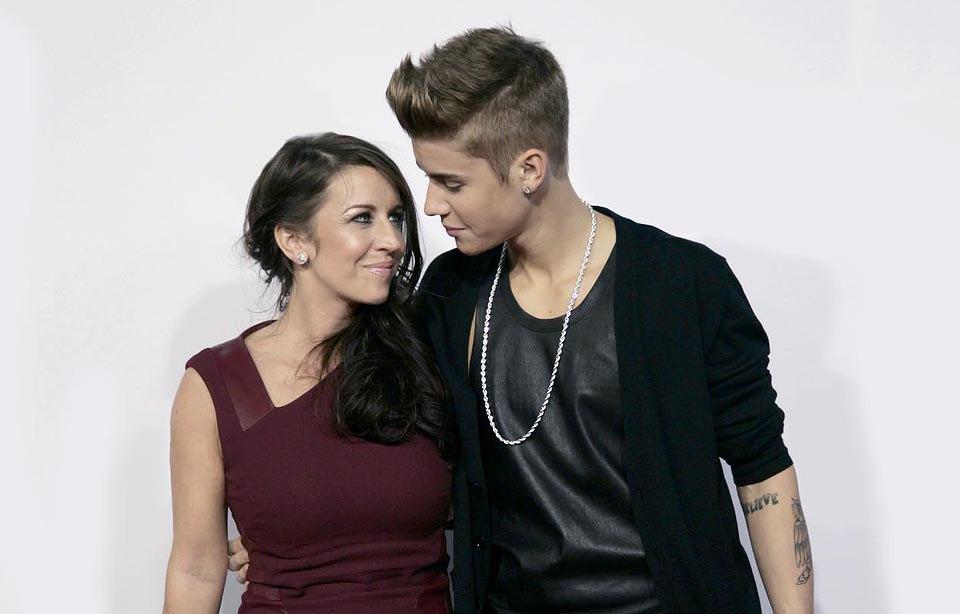 Джастин Бибер со своей мамой Патрицией