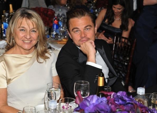 Леонардо ДиКаприо со своей мамой Ирмелин