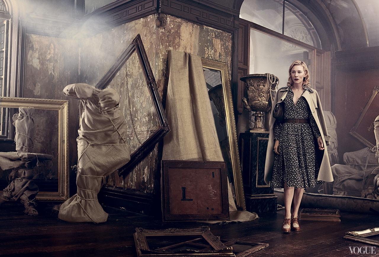 Кейт Бланшетт в фотосессии Vogue, посвященной фильму