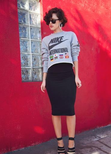 Кофта в виде юбки