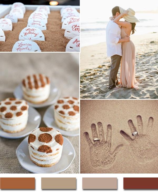 Песочная свадебная палитра