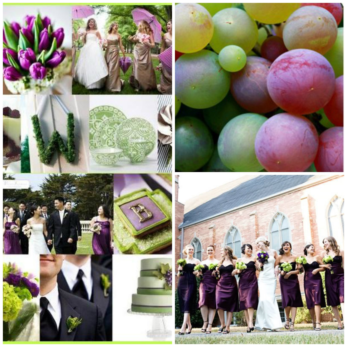 Свадебная палитра Виноград