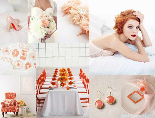 Свадебная палитра Яркий оранжевый