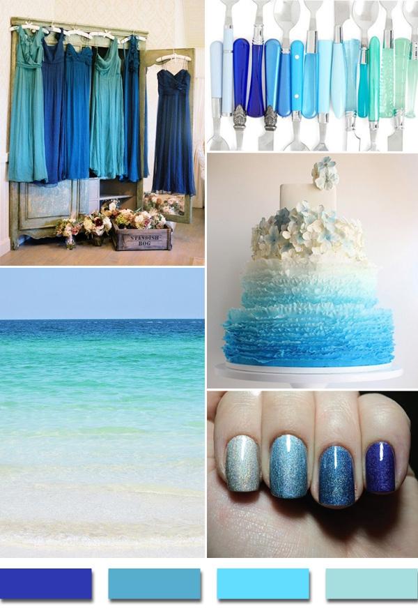 Свадебная палитра Морская