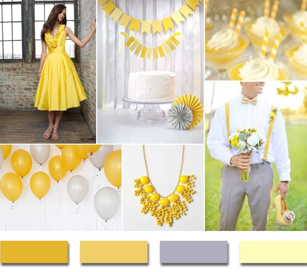 Желтая свадебная палитра