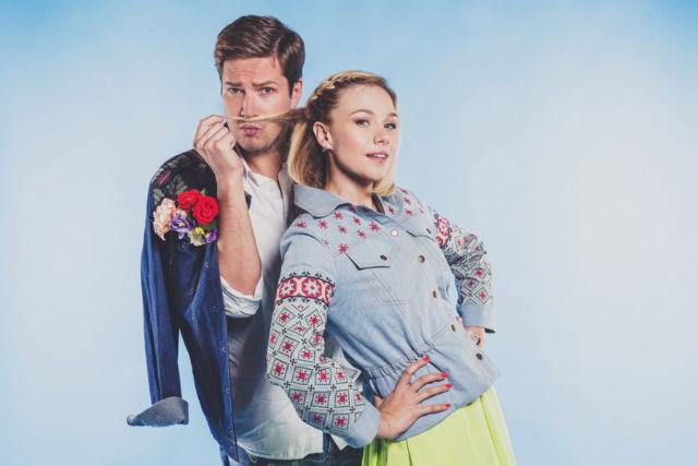 Даниил Грачев и Виолетта Трикова (телеведущий, fashion-эксперт и телеведущая)