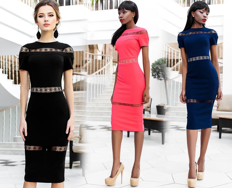 Фасоны женского платья классика