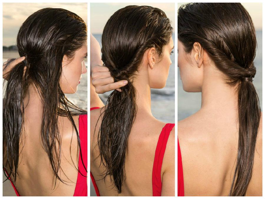 Жгуты из волос по бокам